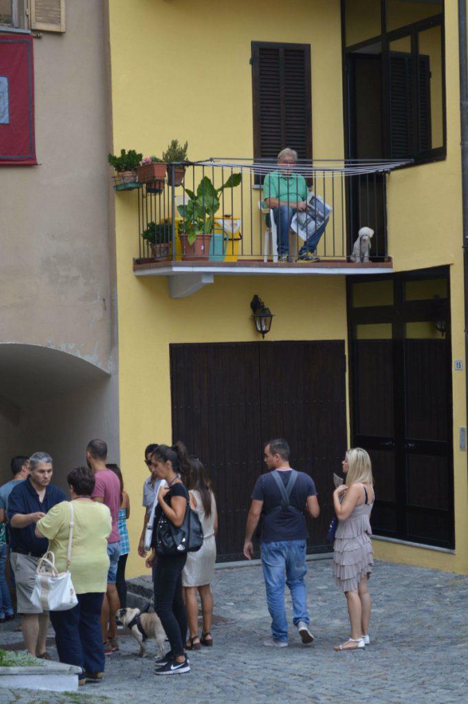 Balkon Alte Cocconato Cocco Wine Weinfest Piemont