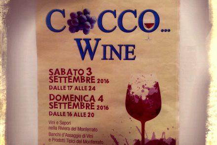 Sagra Plakat Cocco Wine Cocconato Weinfest Piemont