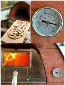 PizzaParty Pizza Oven PizzaOfen holzbetrieben 400 Grad Celsius perfekte Pizza