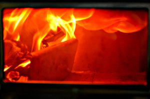 Feuer in Pizza-Ofen PizzaParty oven fire 450 degree