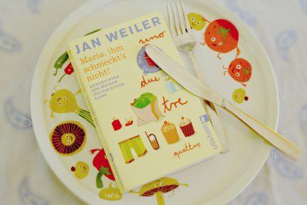 Buch Maria ihm schmeckt's nicht Autor Jan Weiler angerichtet auf Pastateller