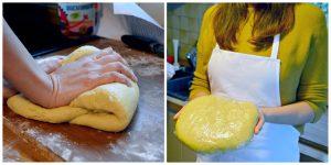 Pasta frolla Butterteig gelb fest für Pastiera